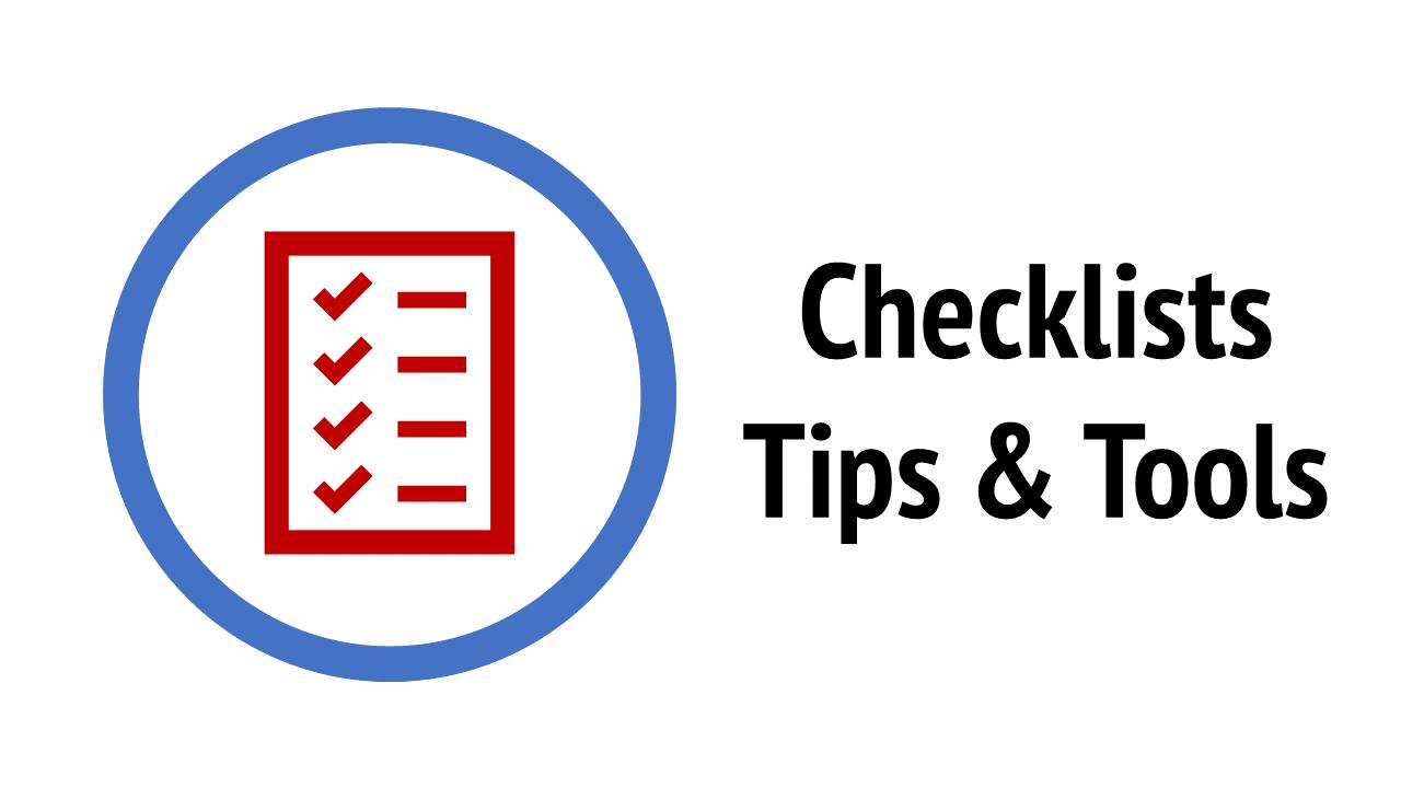 Teamchange checklists