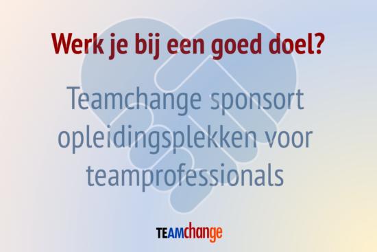 Teamchange sponsort opleidingsplekken