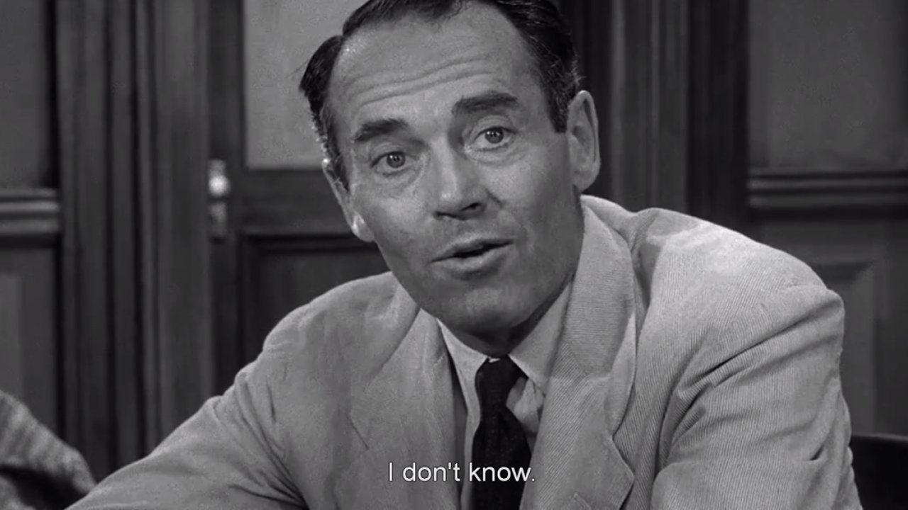 12 Angry Men - Henry Fonda - I don't know