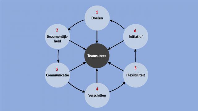 teamwiel van vroemen - zes succesfactoren voor teamsucces